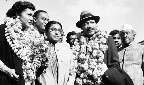 29 5 Coretta en Martin Luther King in India 1959